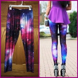 LOTUS LEGGINGS Purple Galaxy LEGGINGS Sz. XXL